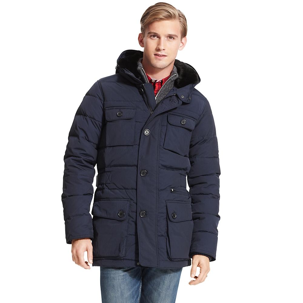 tommy hilfiger parka jacket in blue for men navy blazer. Black Bedroom Furniture Sets. Home Design Ideas