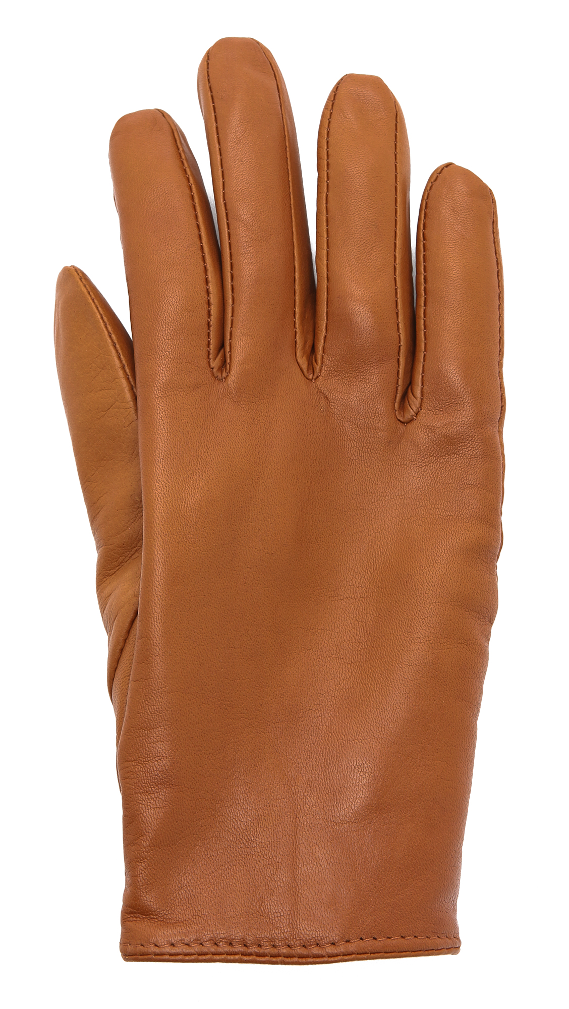 Lyst Club Monaco Claudia Leather Gloves In Brown