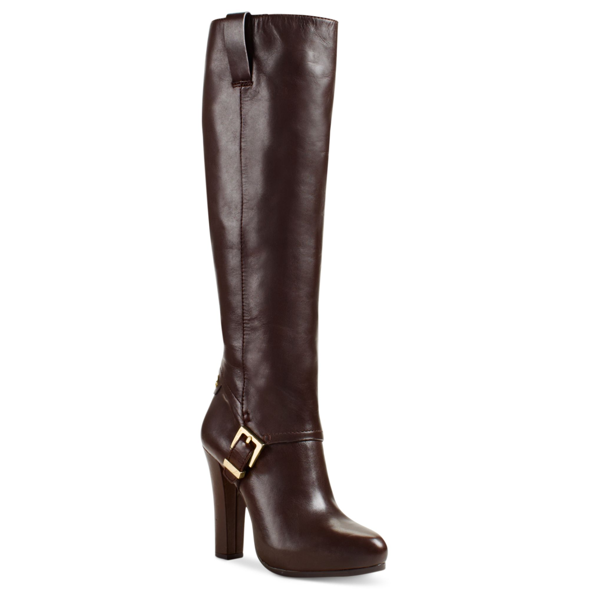 michael kors tamara high heel dress boots in brown coffee