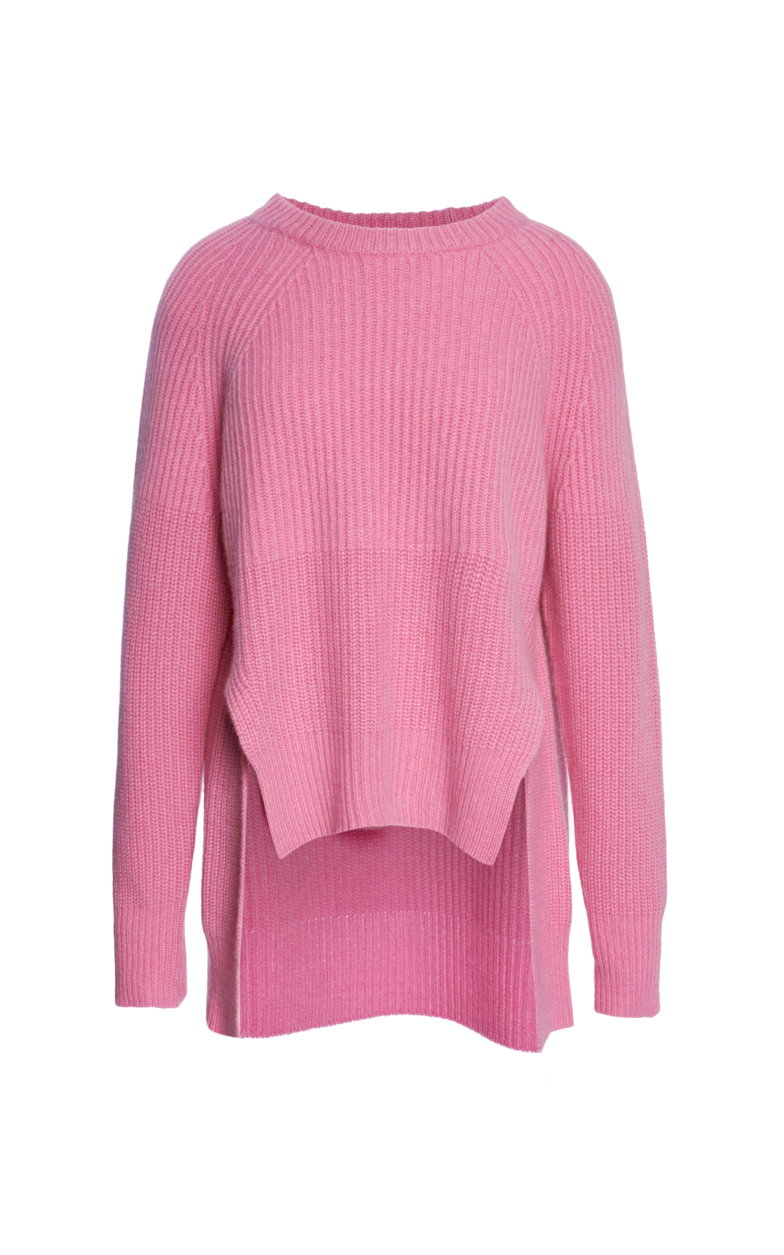 Whistles Drop Back Cashmere Sweater in Pink | Lyst