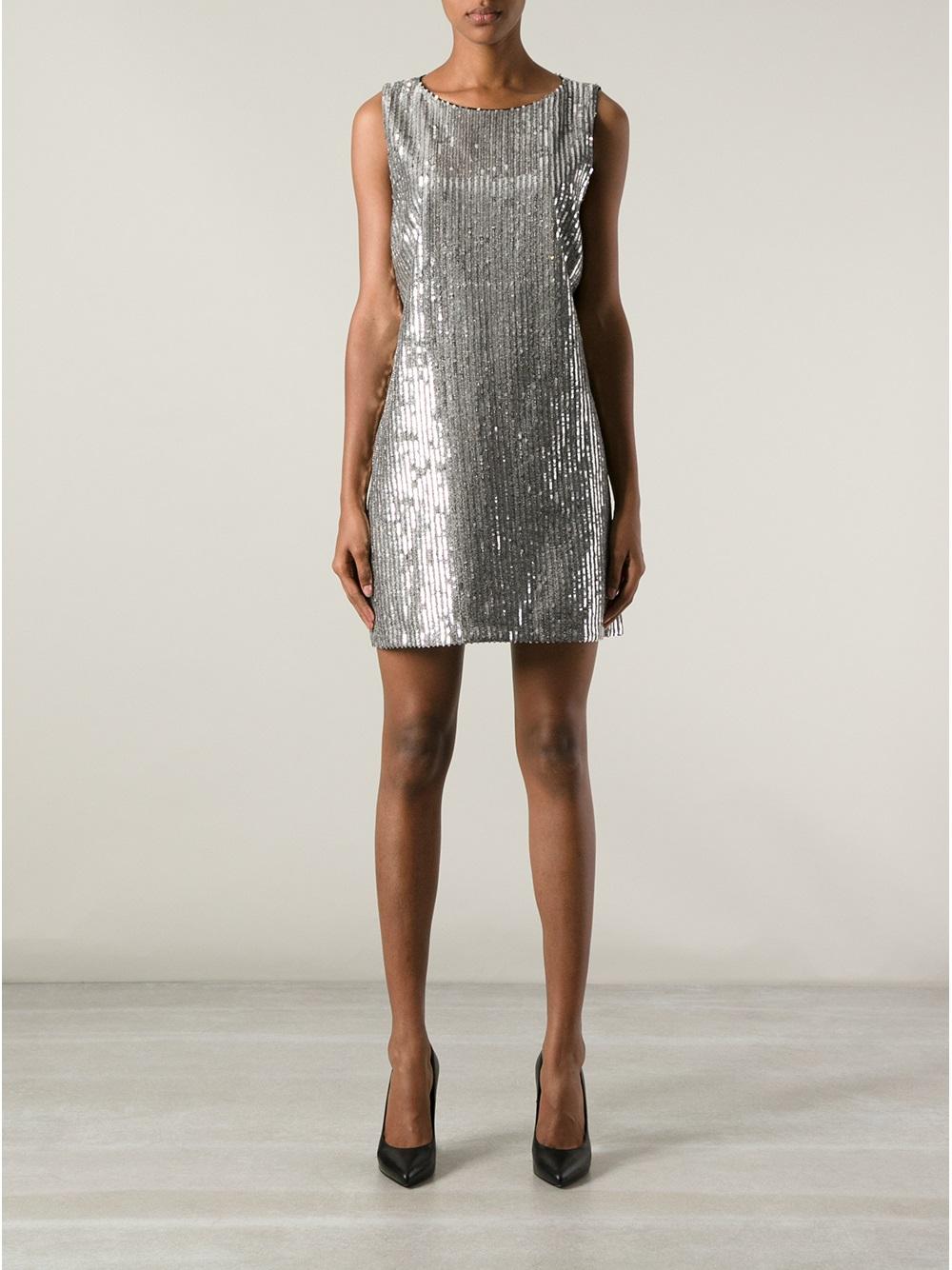 Lyst Alice Olivia Sequin Dress In Metallic