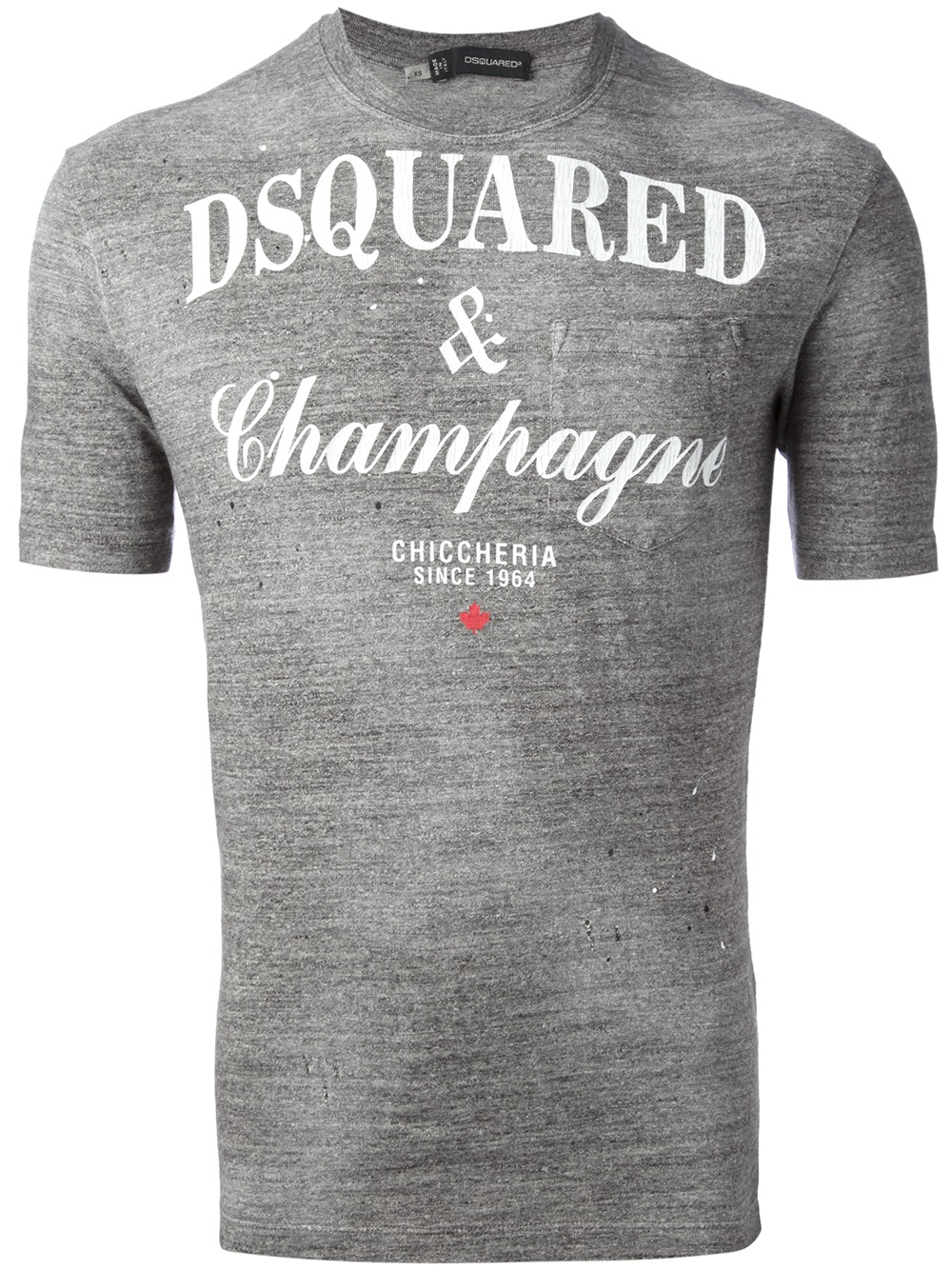 dsquared champagne tshirt in gray for men lyst. Black Bedroom Furniture Sets. Home Design Ideas