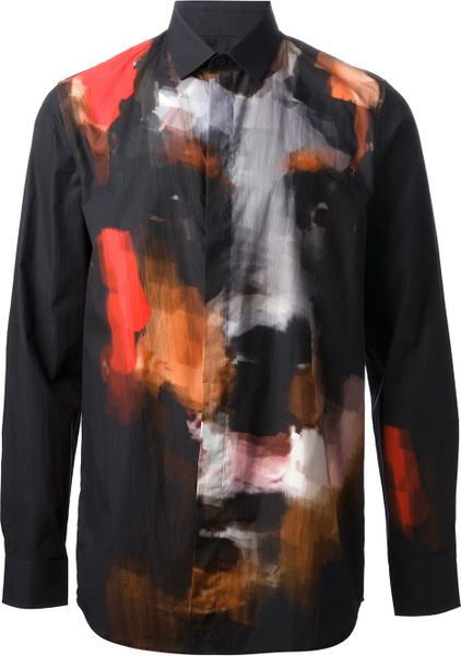 Givenchy Doberman Shirt in Black for Men - Lyst
