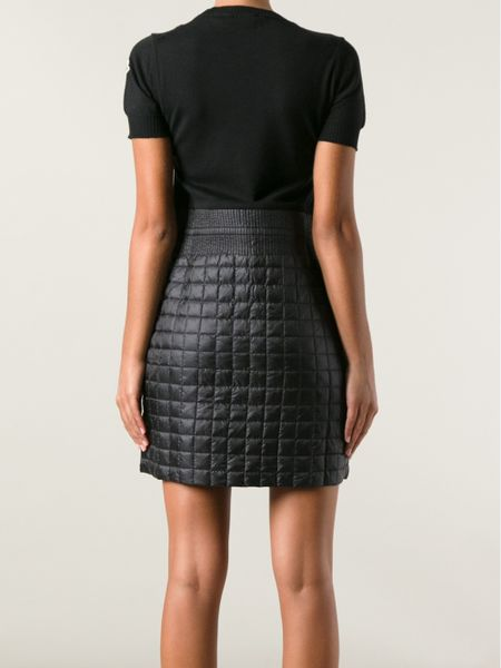 Moncler Quilted Skirt In Black Lyst
