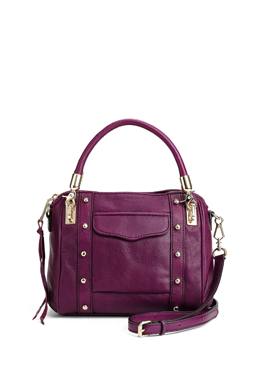 lyst rebecca minkoff cupid mini in purple