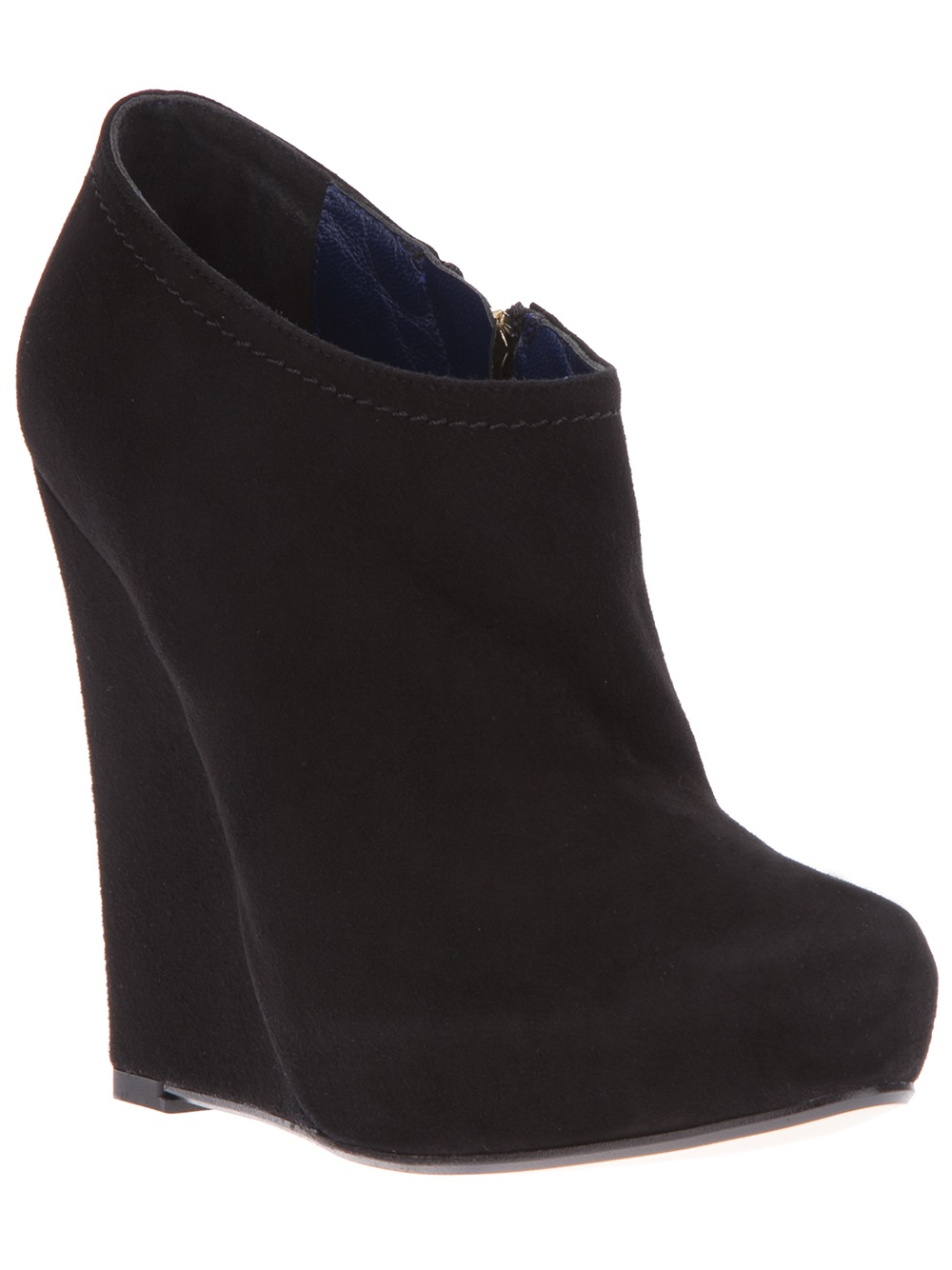 studio pollini wedge ankle boot in black lyst