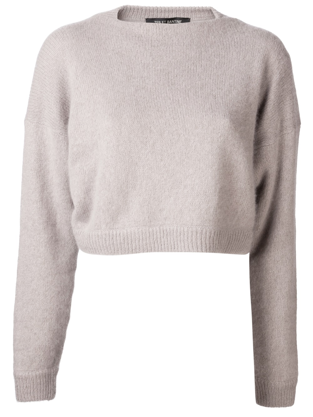 Ter et bantine Cropped Sweater in Natural | Lyst