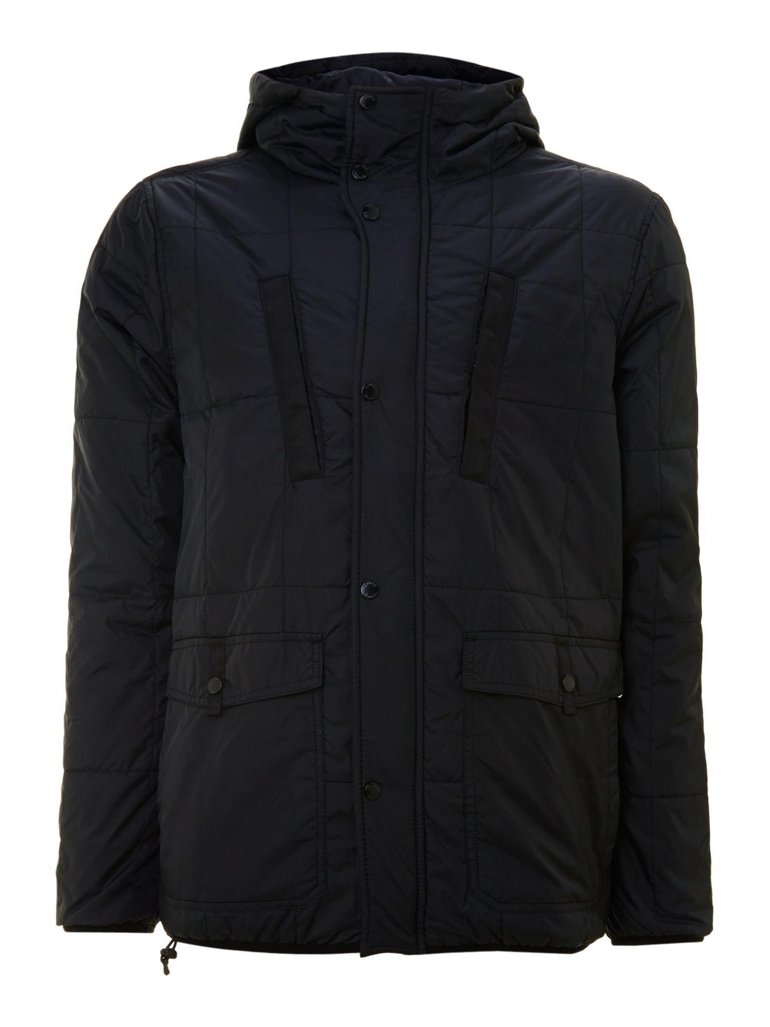 Bench Hooded Puffer Jacket In Black For Men Lyst