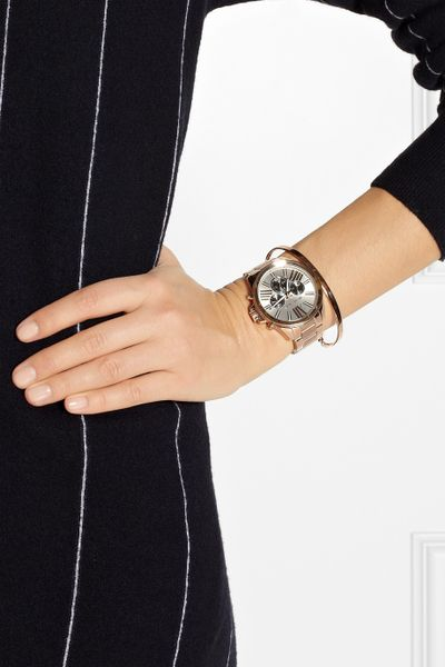 Rose Gold Watch Michael Kors Chronograph Rose Gold Michael Kors