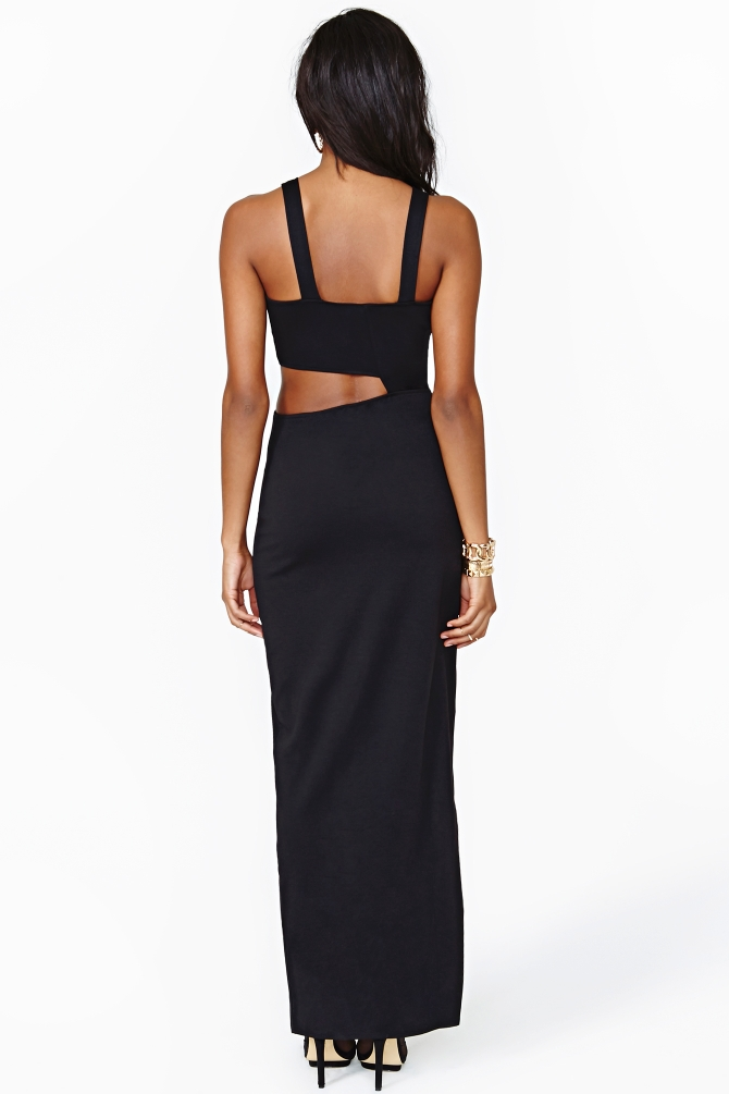 Lyst Nasty Gal Duplicity Maxi Dress Black In Black