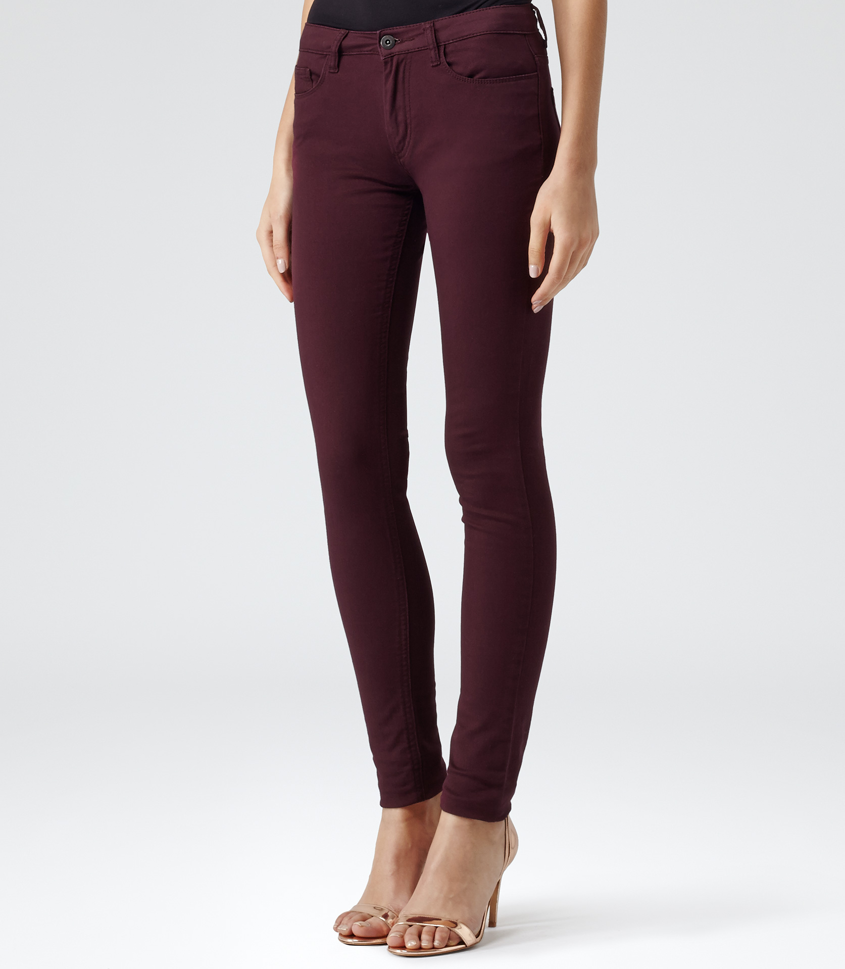 Reiss Smith Colour Coloured Skinny Jeans in Red | Lyst