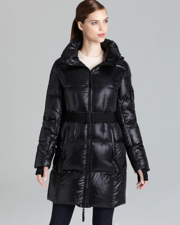 Sam. Down Coat Long Soho Belted in Black | Lyst