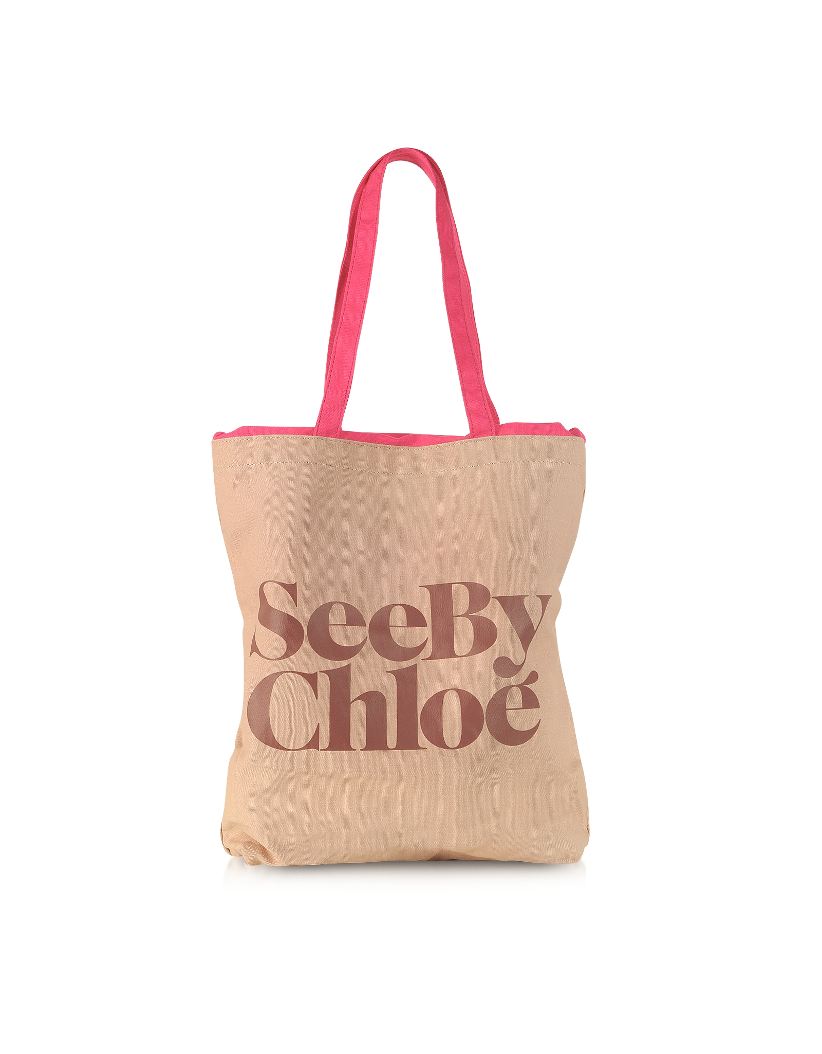 Chlo¨¦ Signature Canvas Tote Bag in Beige (Nougat) | Lyst
