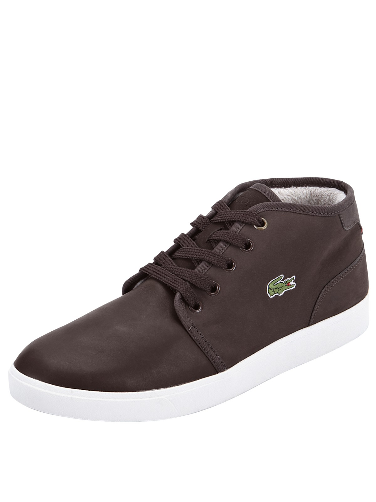 lacoste lacoste benoit fur lined mens boots in brown for