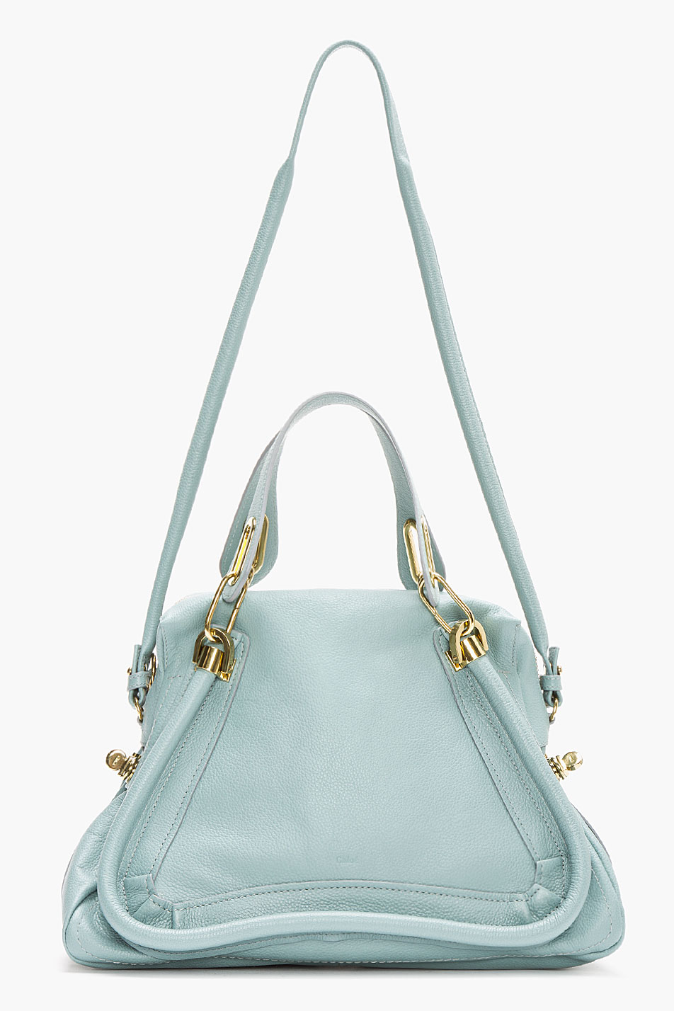 Chlo�� Mint Leather Medium Paraty Shoulder Bag in Green (mint) | Lyst