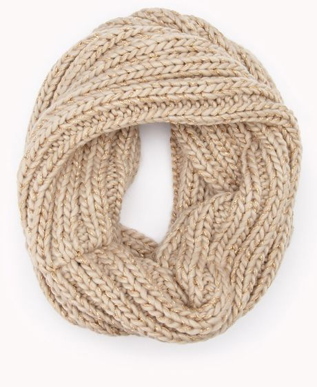 Forever 21 Touch of glam Infinity Scarf in Brown (Oatmeal ...