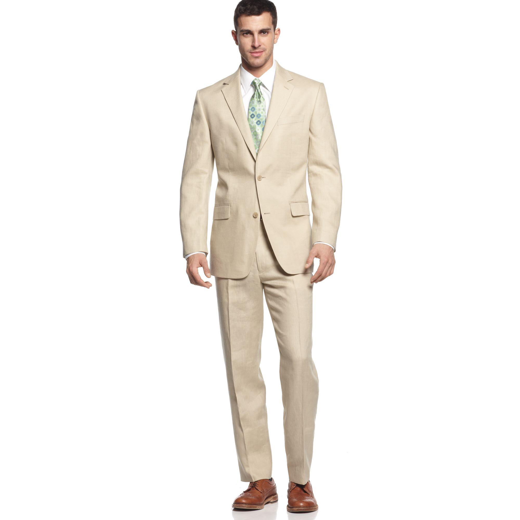 Lyst - Michael Kors Natural Linen Suit in Natural for Men