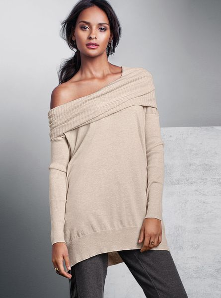 Victoria's Secret Multiway Tunic Sweater in Gray (feather ...
