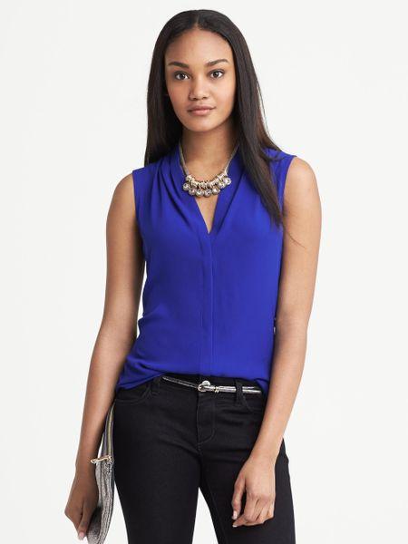 H&M Blue Sleeveless Blouse 79