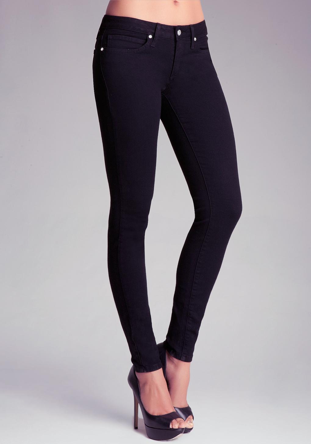 Lyst Bebe Logo Icon Skinny Jeans In Black