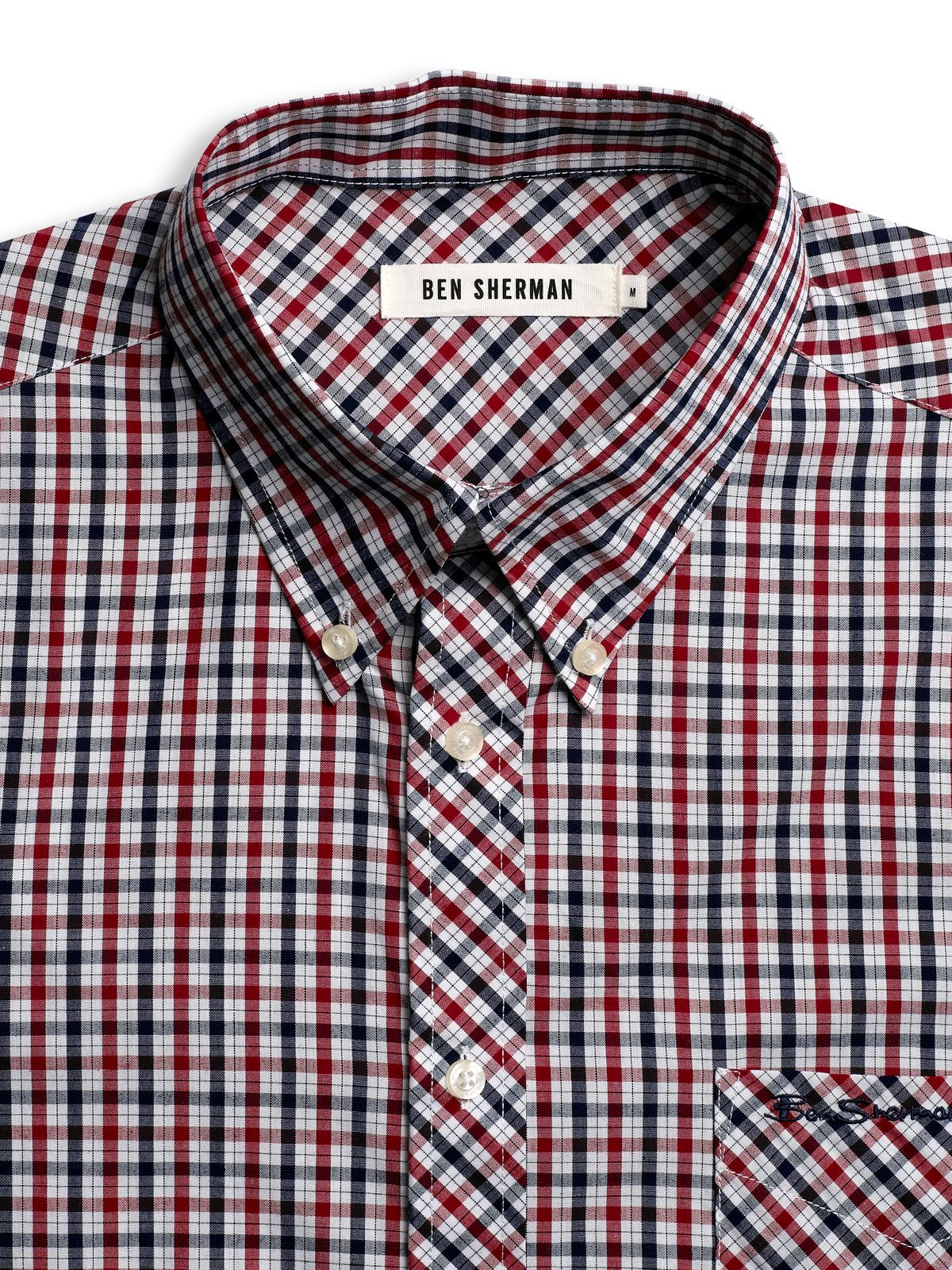 Ben Sherman Cotton Plaid Shirt In Red For Men Lyst