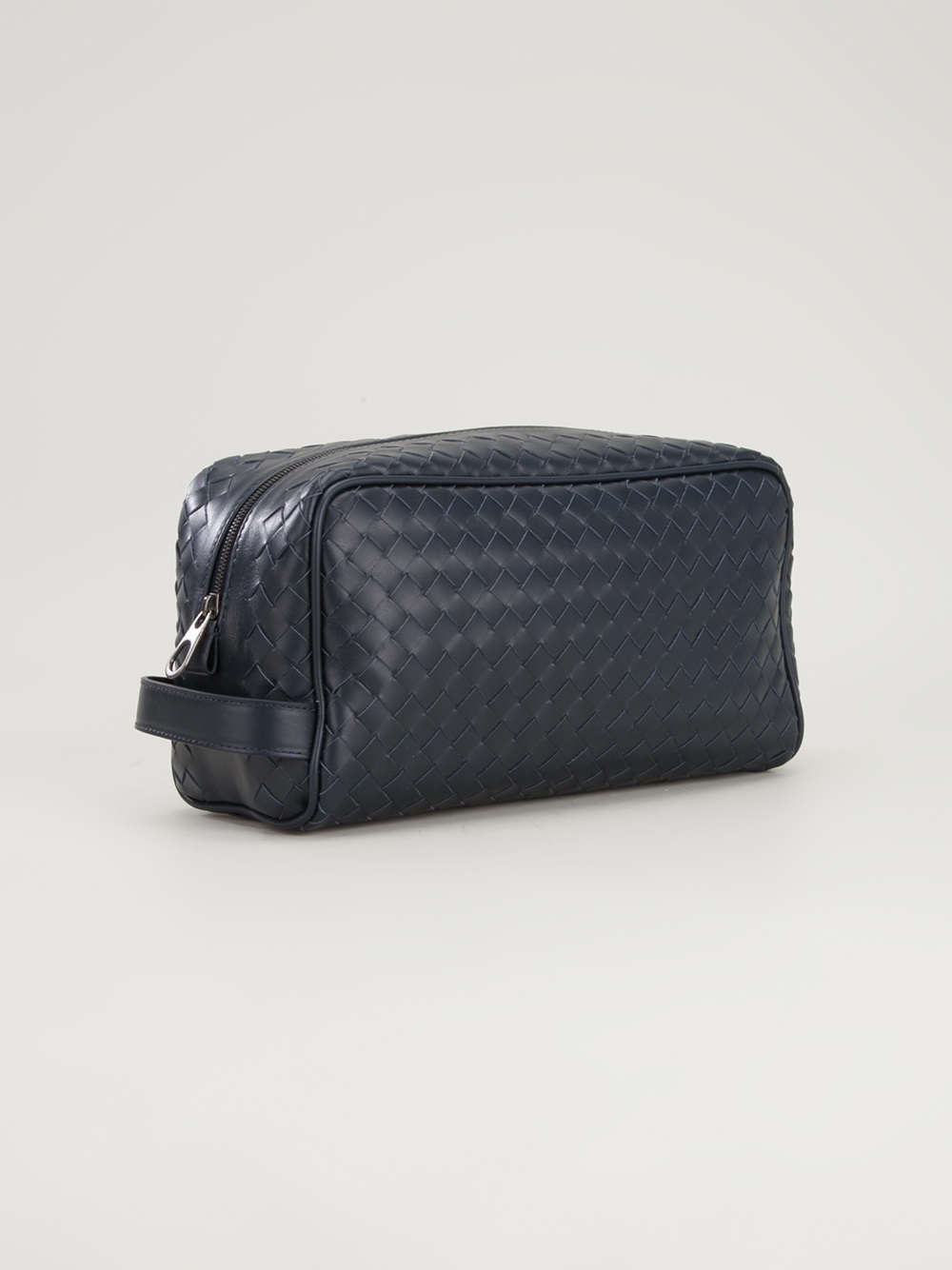 3ede19a524 Lyst - Bottega Veneta Wash Bag in Blue for Men