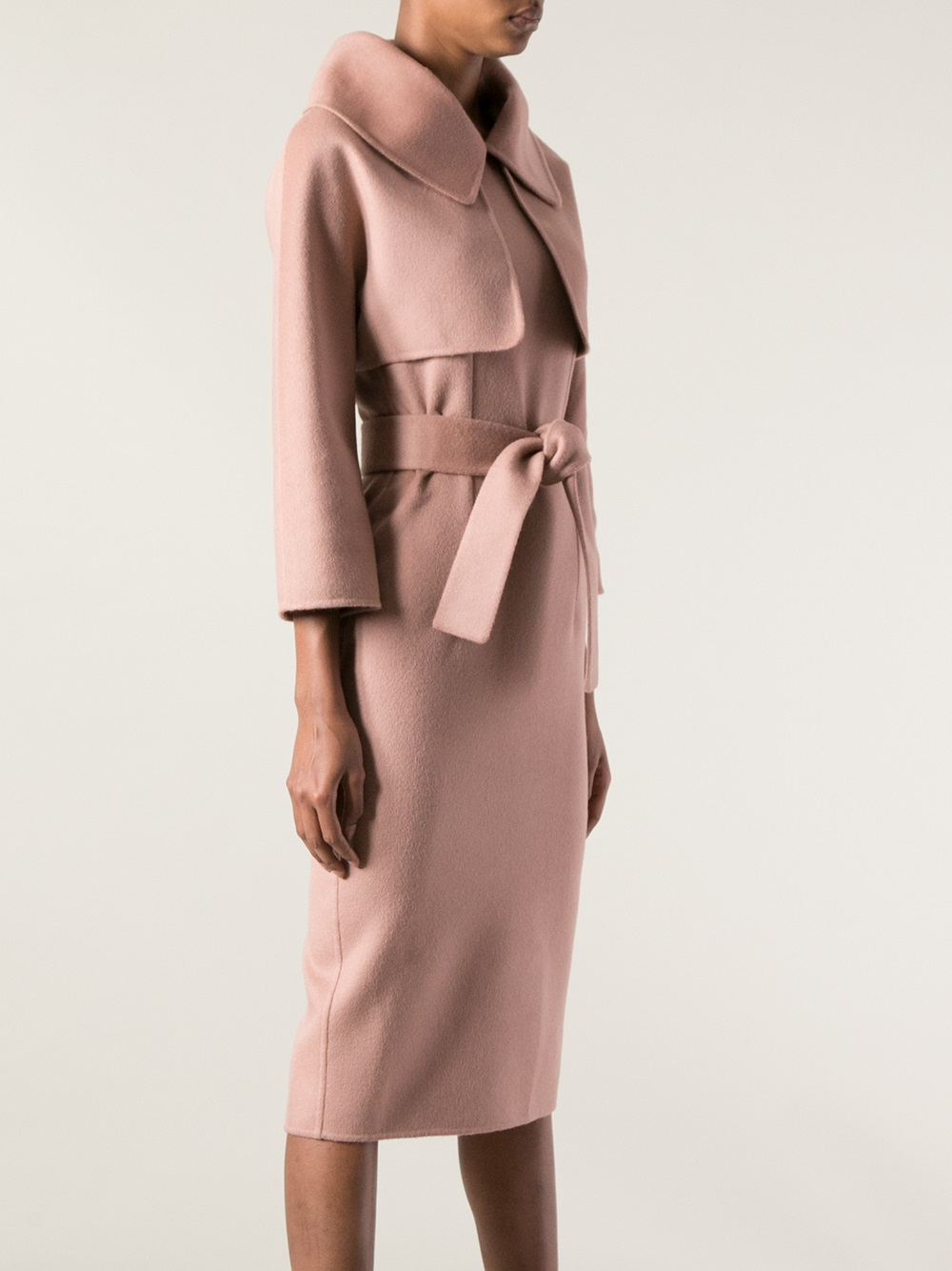 Dsquared² Belted Coat Dress in Pink | Lyst