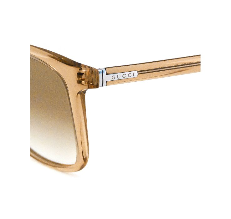 Gold Sunglasses Mens  gucci gold acrylic wayfarer mens sunglasses in metallic for men lyst