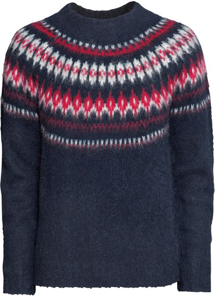 H&m Knitted Jumper in Blue
