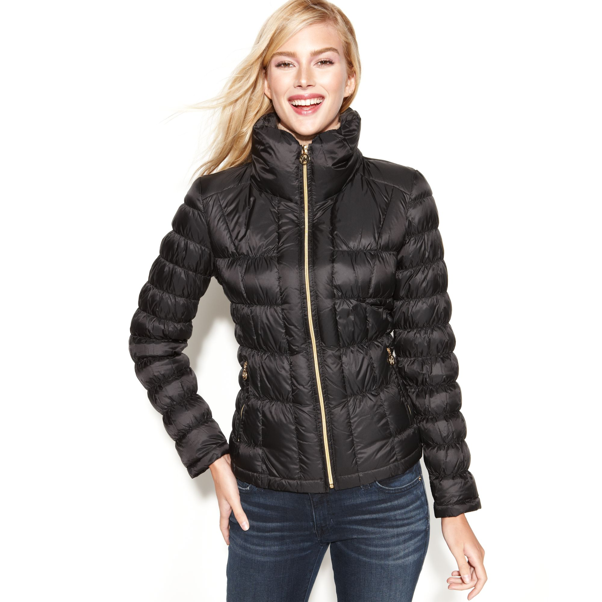 Michael Kors Quilted Packable Down Puffer In Black Lyst