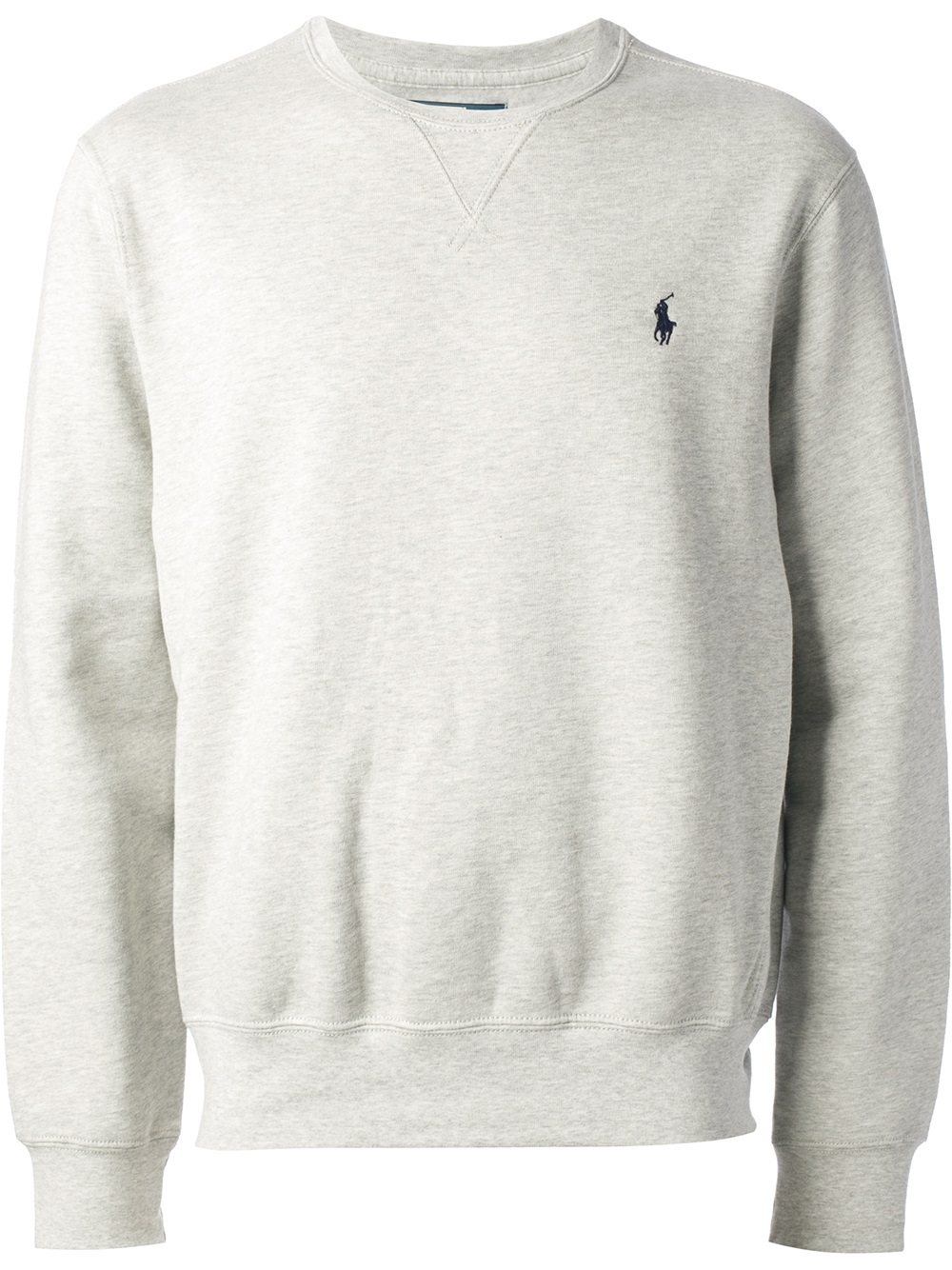 lyst polo ralph lauren estate fleece sweatshirt in gray. Black Bedroom Furniture Sets. Home Design Ideas