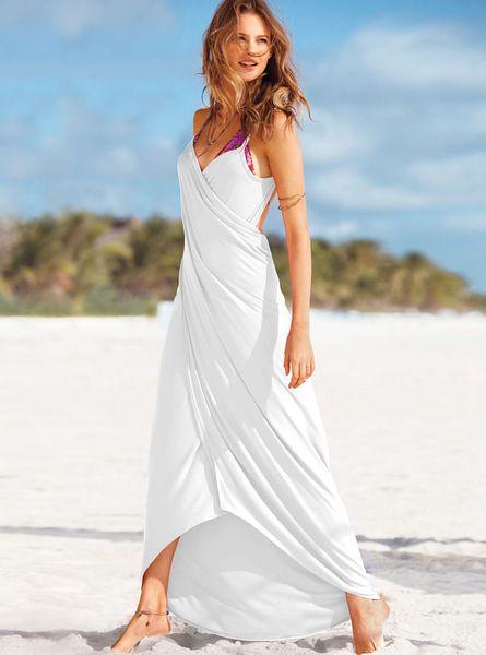 Victoria S Secret Getaway Wrap Maxi In White Lyst