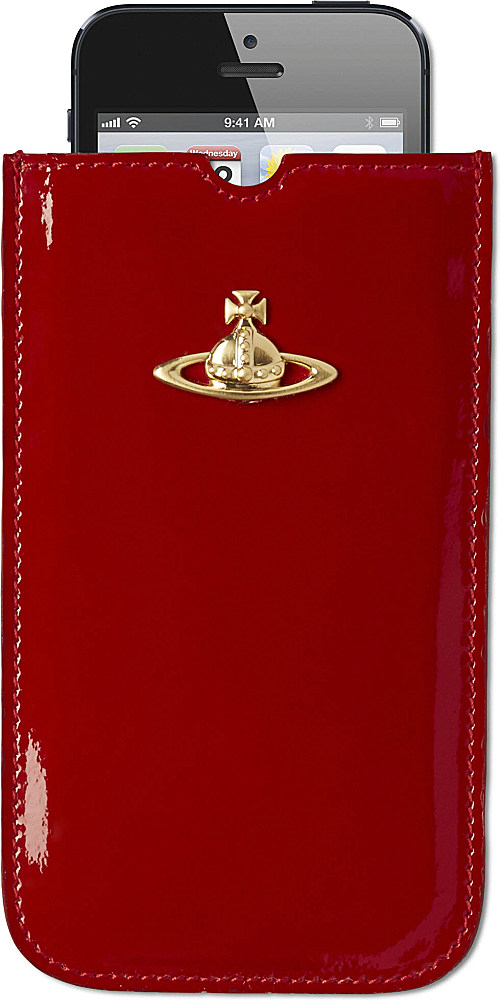 newest aa947 2724a Vivienne Westwood Patent Leather Iphone Case in Red - Lyst