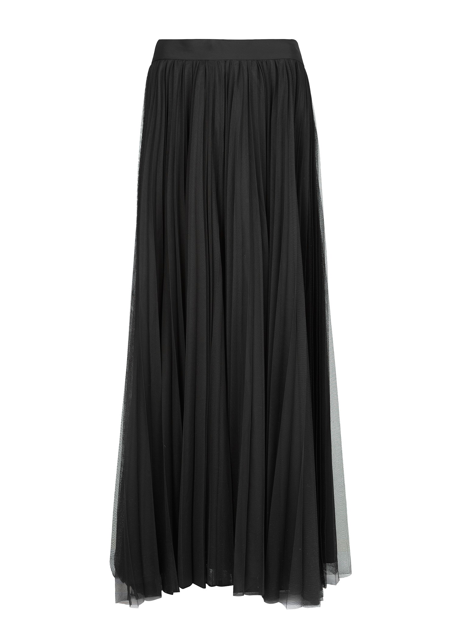 Finish off your costume with this long, sheer tulle skirt featuring a satin waist tie. (Bodysuit not included.)