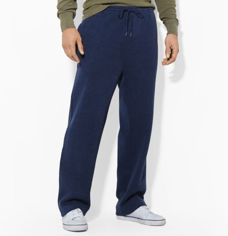 Polo ralph lauren frenchrib athletic pant in blue for men for Big and tall athletic shirts