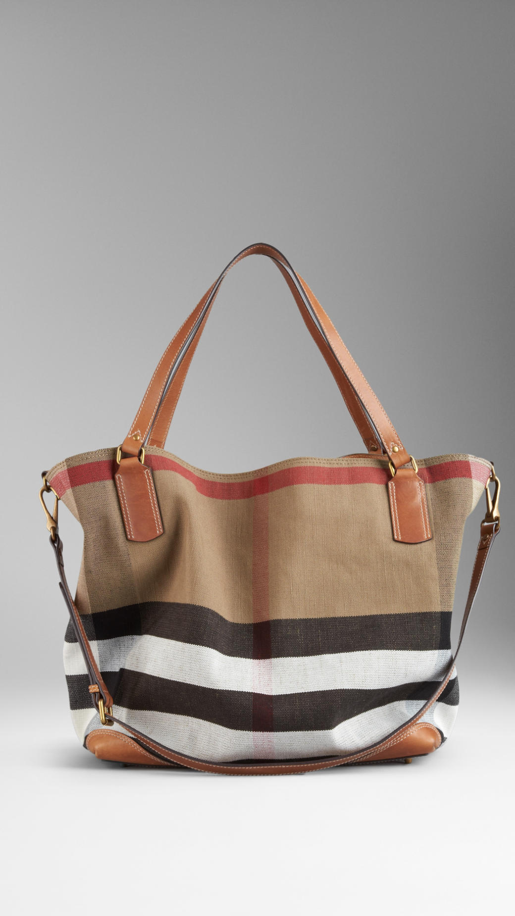 40c4c4329 Burberry Brit Large Brit Check Tote Bag in Brown - Lyst