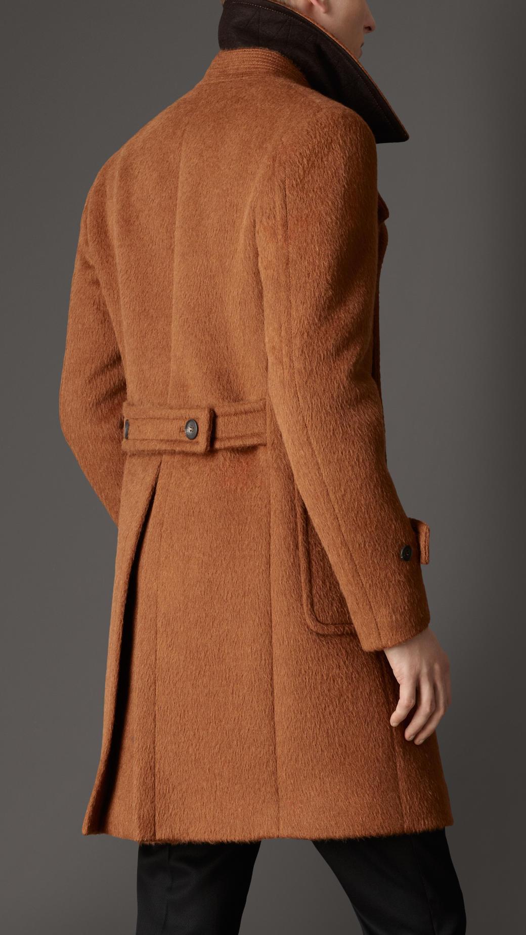 Lyst Burberry Doublebreasted Virgin Wool Alpaca Coat In