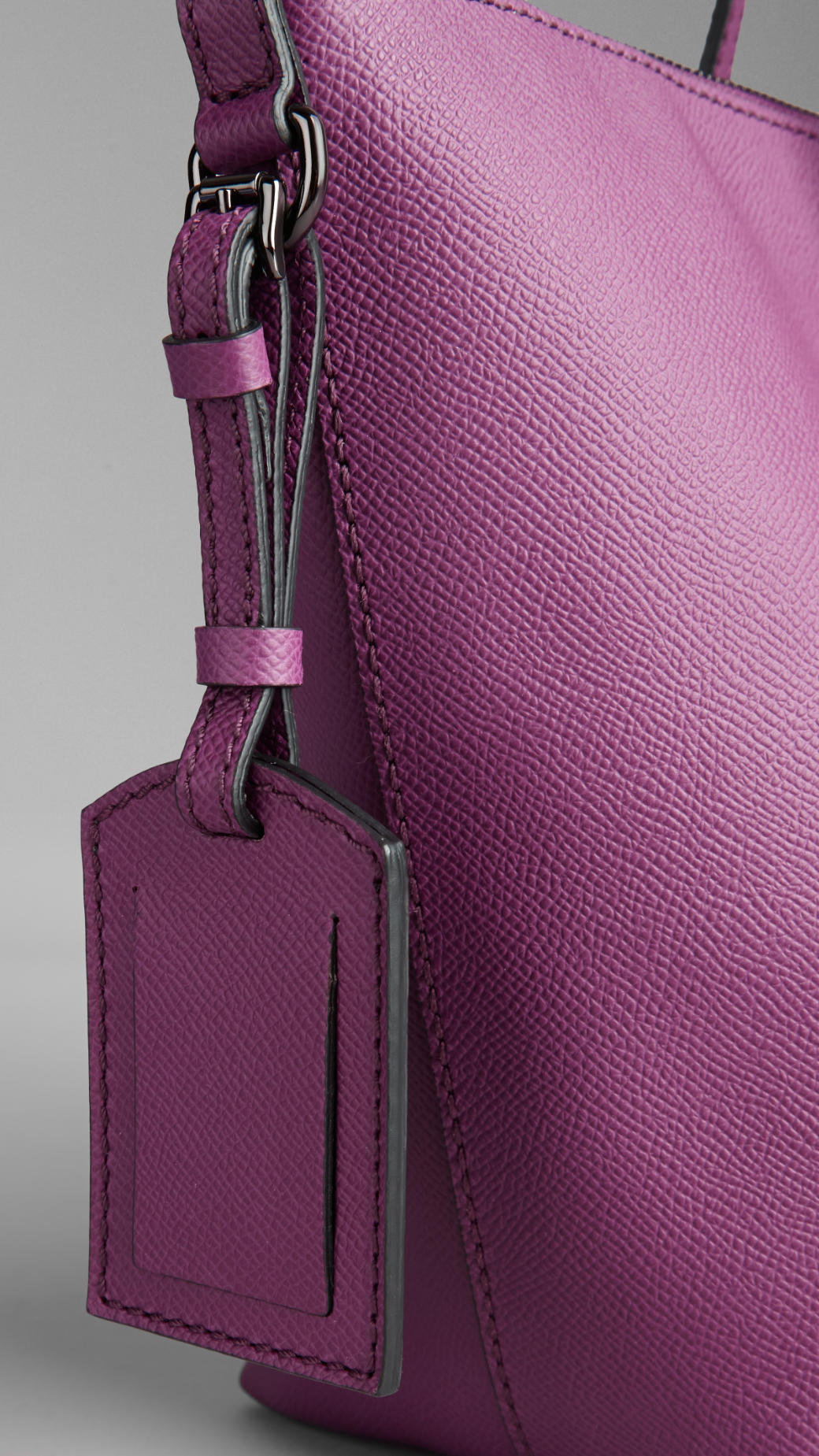 8fcf691c2b89 Lyst - Burberry Small Colour Coated London Leather Tote Bag in Purple
