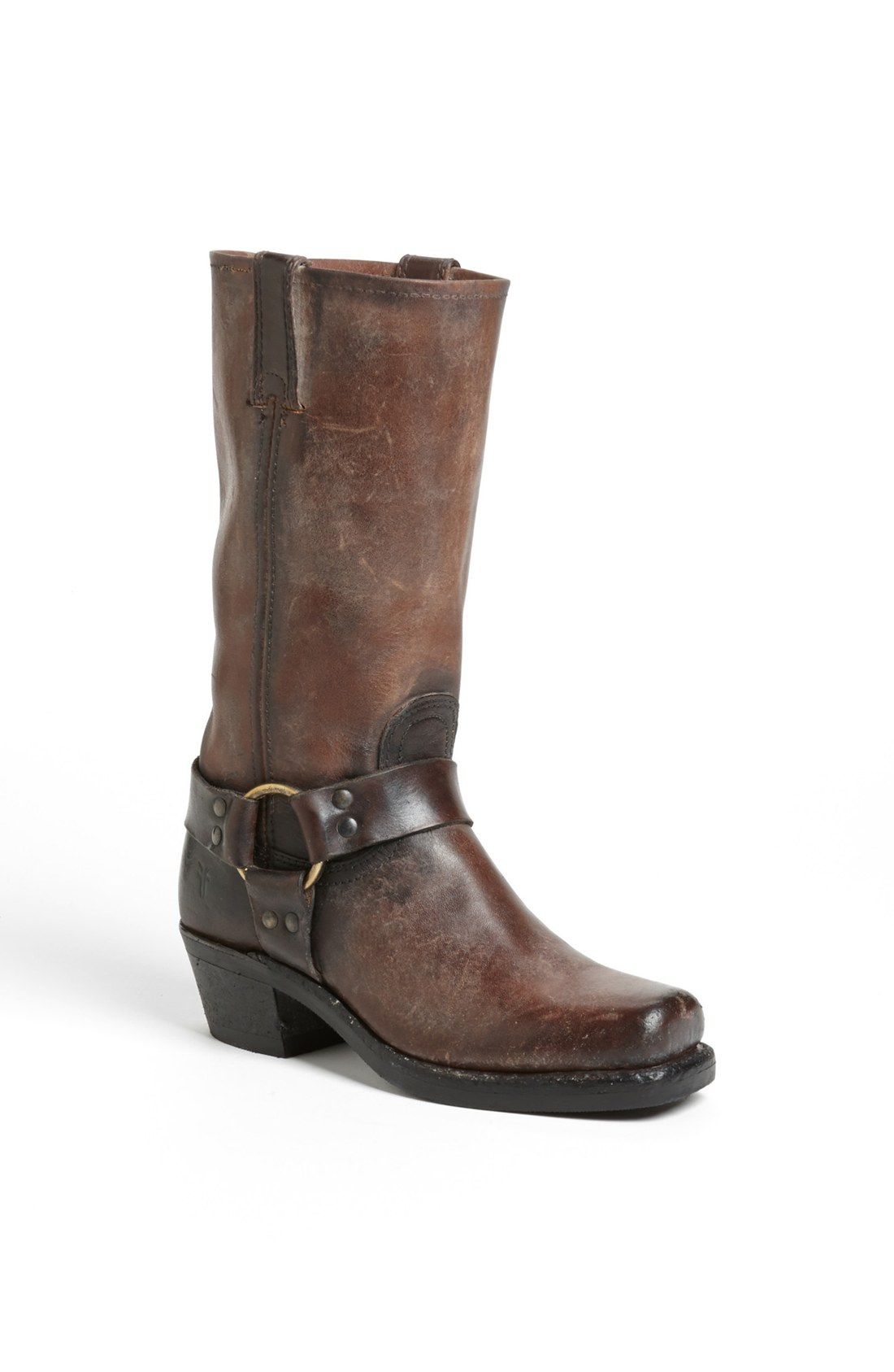 frye harness 12r boot in brown brown brown lyst