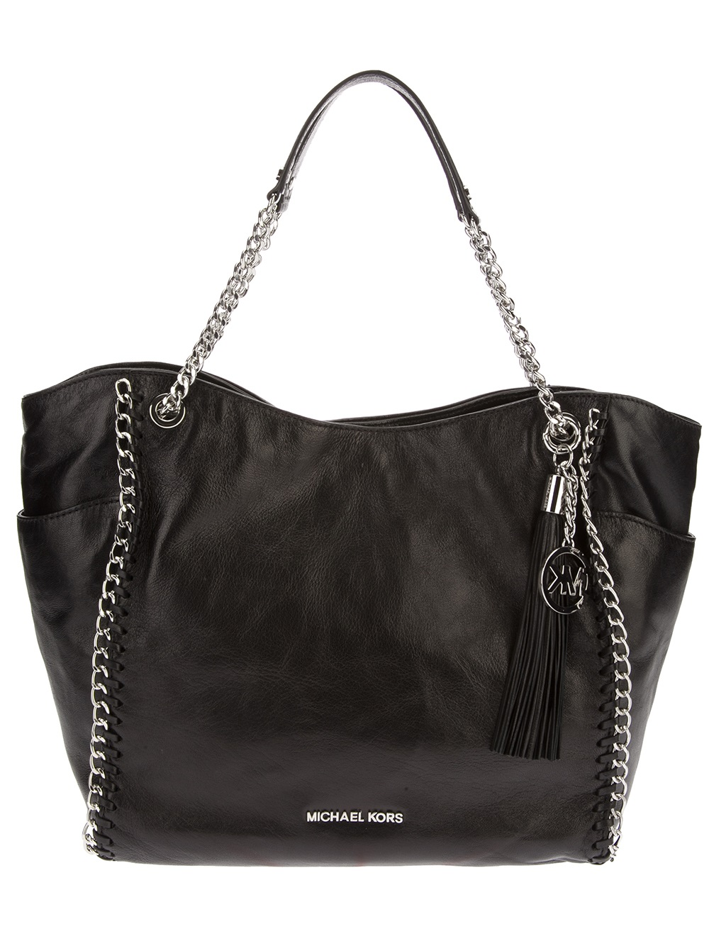 Lyst Michael Michael Kors Chain Embellished Tote Bag In