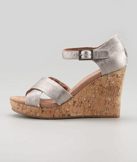 775034ef741 Pewter Silver Wedge Sandals ~ Greek Sandals