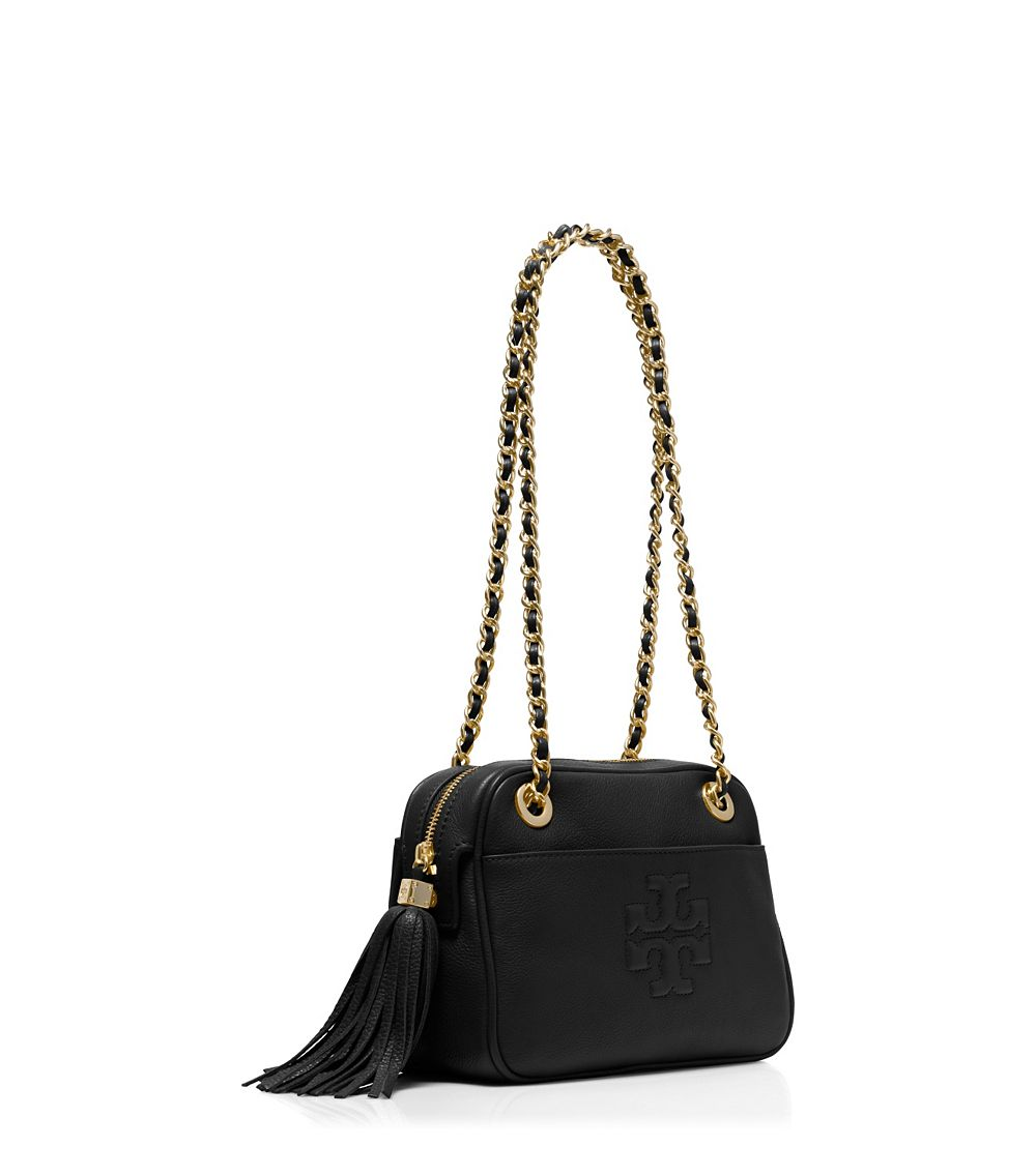 99691730af2bd Tory Burch Thea Cross-body Chain Bag in Black - Lyst