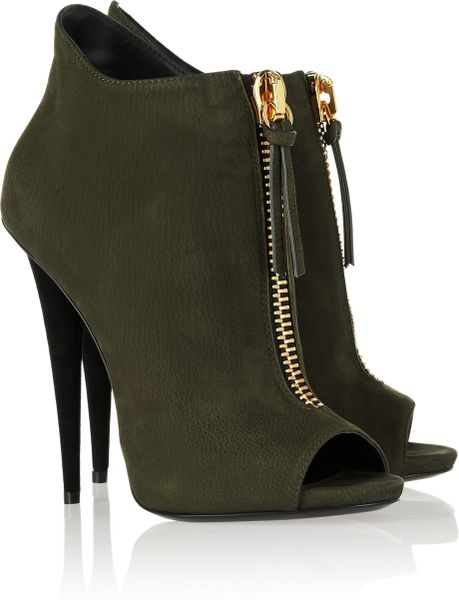 giuseppe zanotti suede ankle boots in green lyst