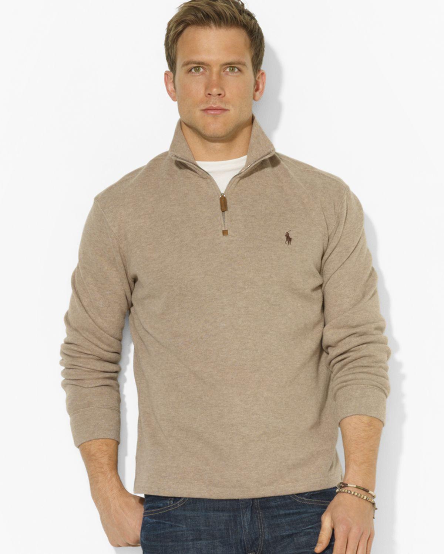 Ralph lauren Polo Frenchrib Halfzip Mockneck Pullover Sweater in ...
