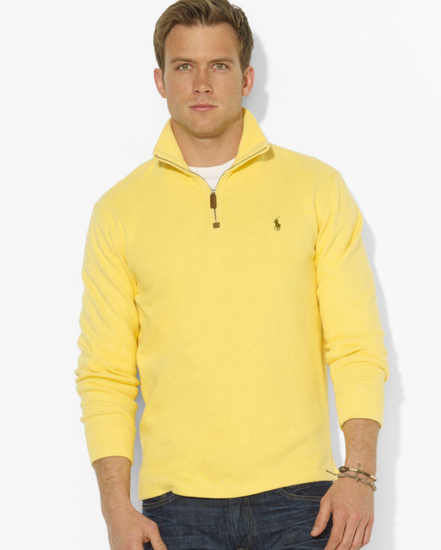 4c0b1327c20e0 ... promo code lyst ralph lauren polo frenchrib halfzip mockneck pullover  sweater 217b9 96ba0