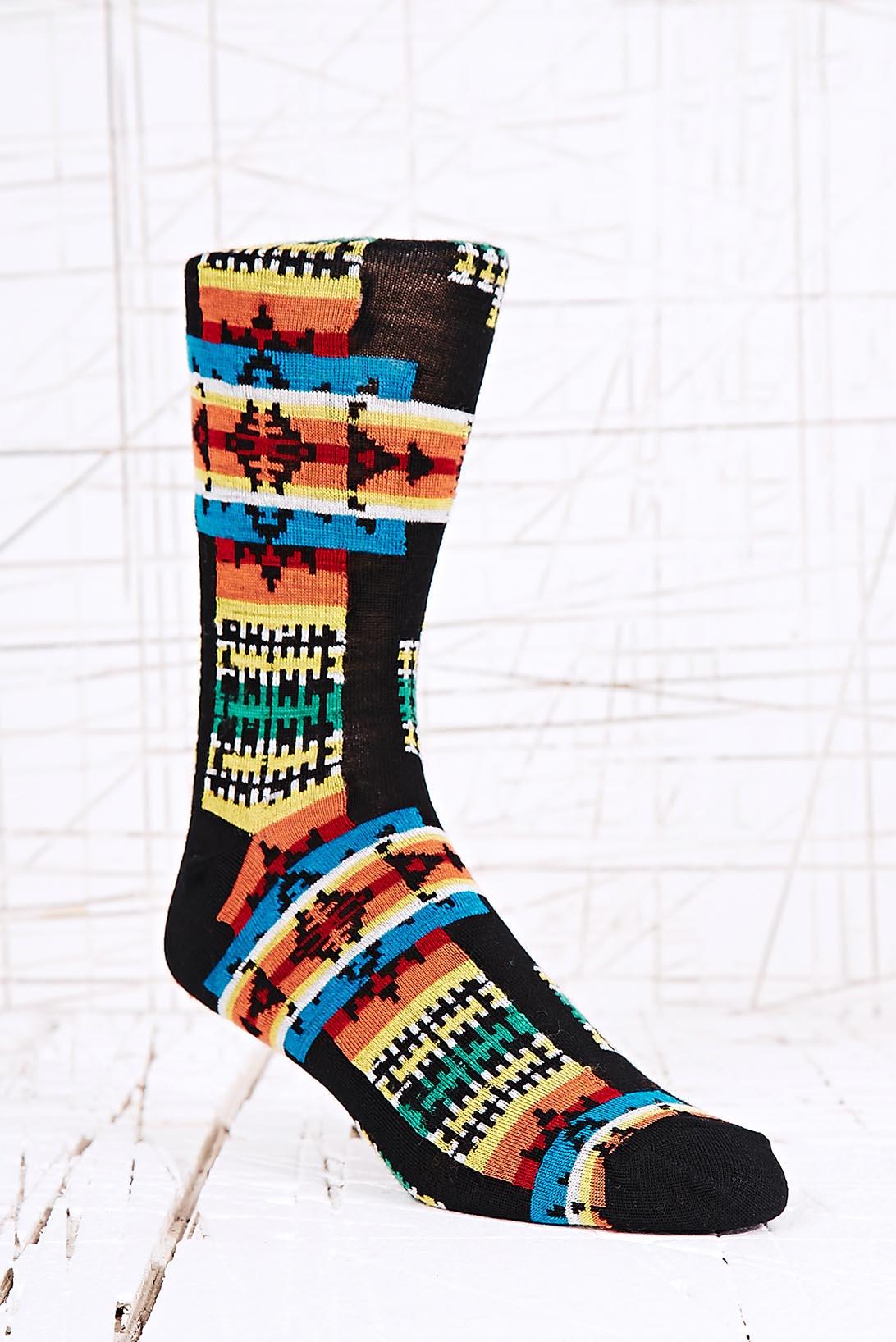 Urban Outfitters Pendleton Socks In Black In Black For Men