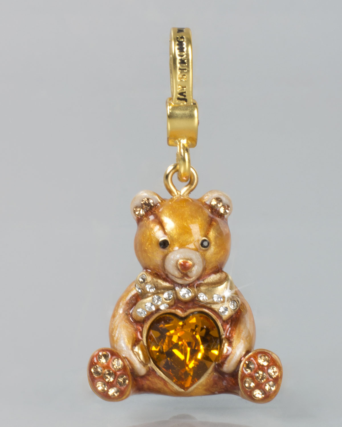 Lyst - Jay Strongwater Teddy Bear With Heart Charm in Metallic