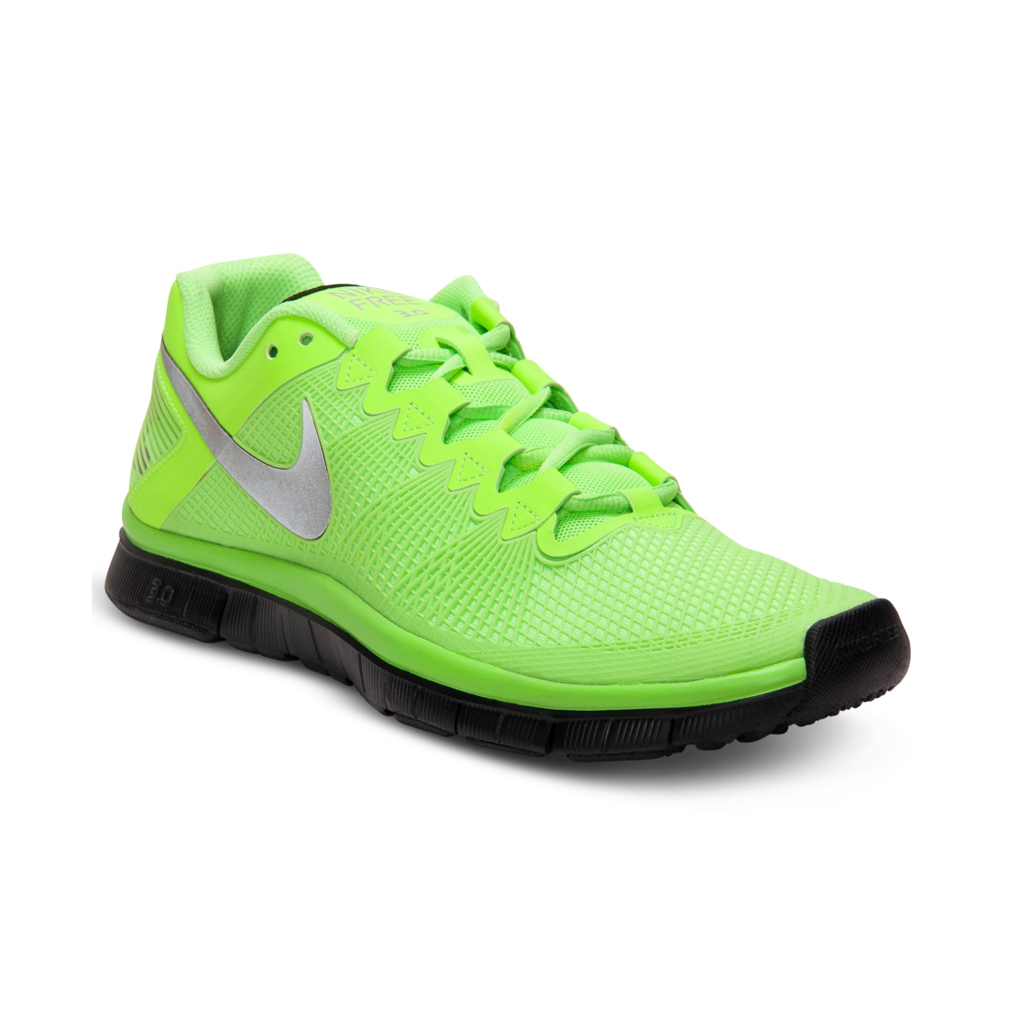 Nike Training Shoes 2013 nike-limesilverblack-free-