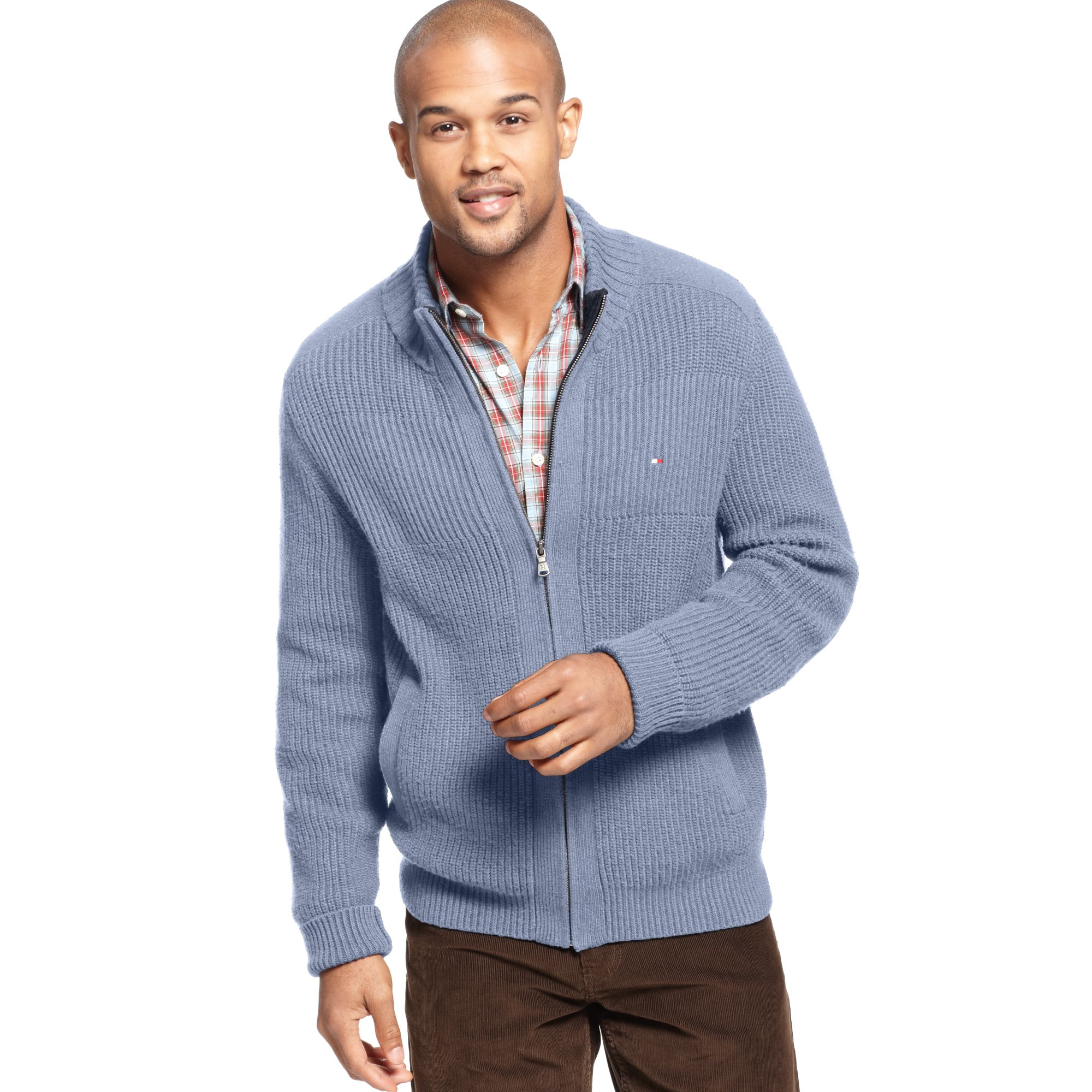 0cfef850eb Tommy Hilfiger Porter Full Zip Sweater in Blue for Men - Lyst