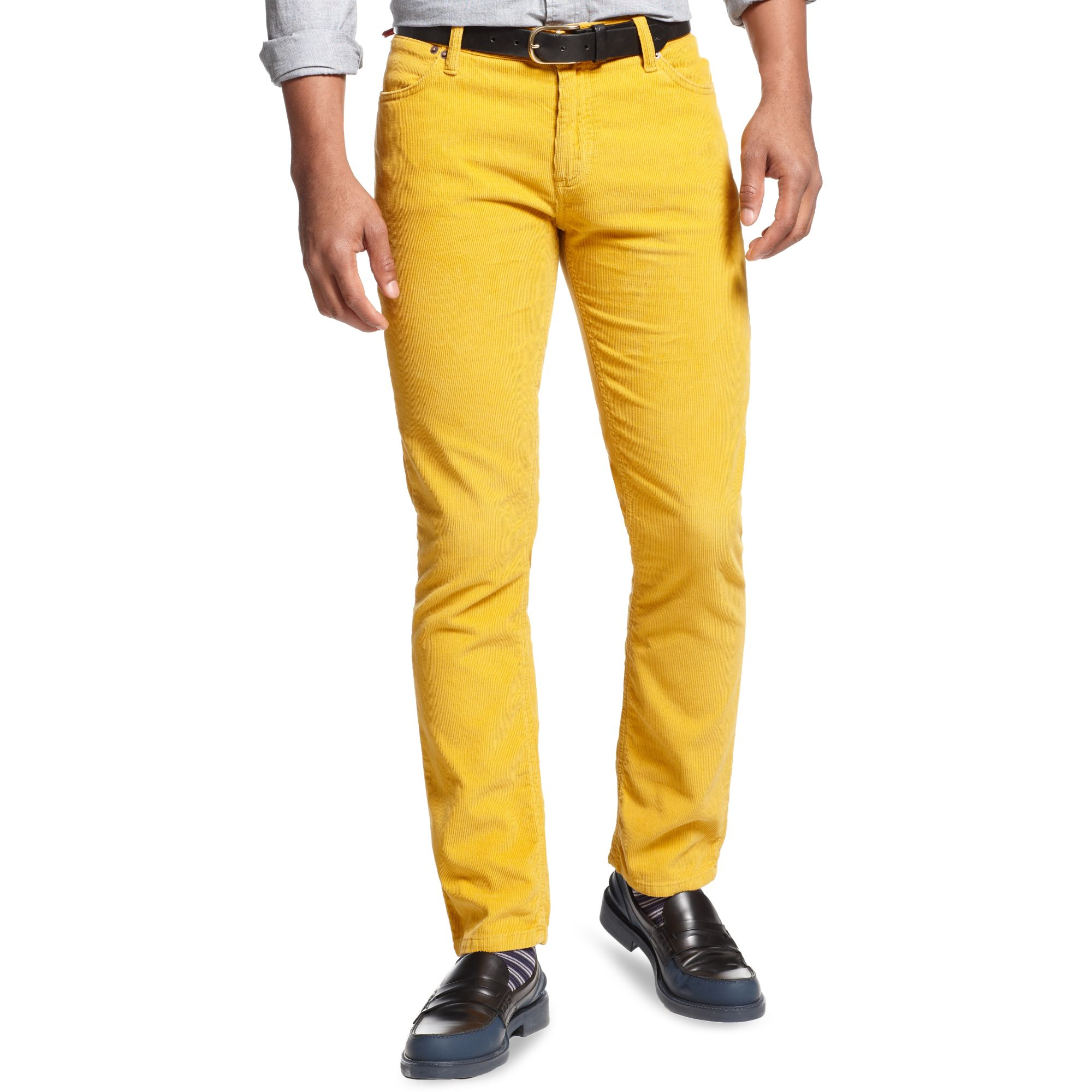 4be3451d1efb9 Lyst - Tommy Hilfiger Gage Rebel Slim Corduroy Pant in Yellow for Men